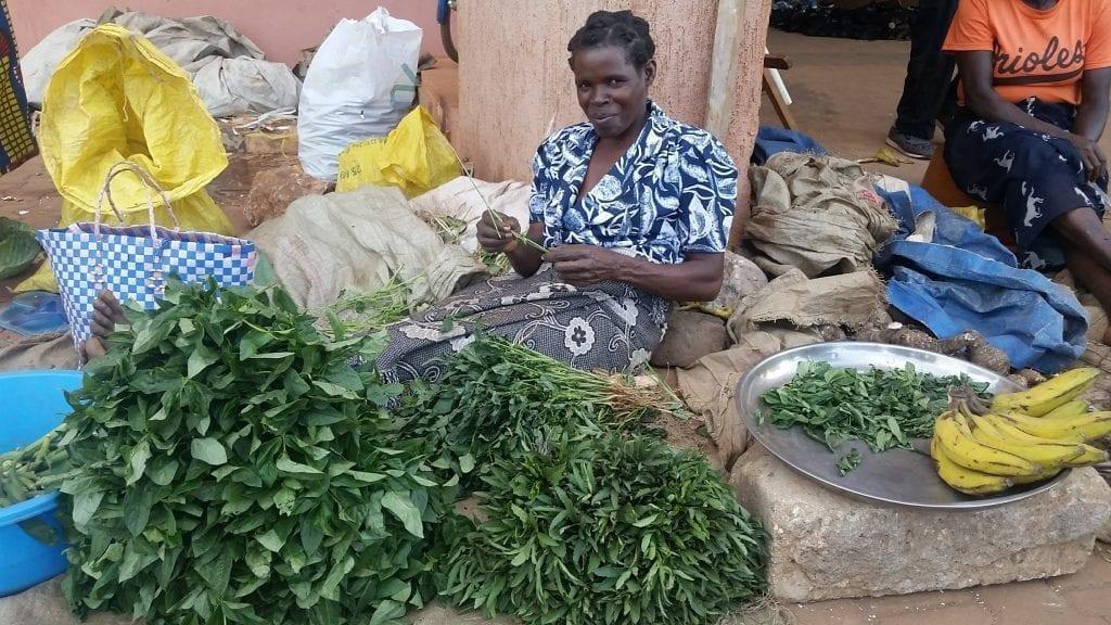 Market woman in Lira, Uganda