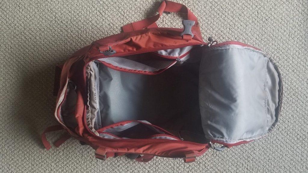 Osprey Porter 46 pack inside