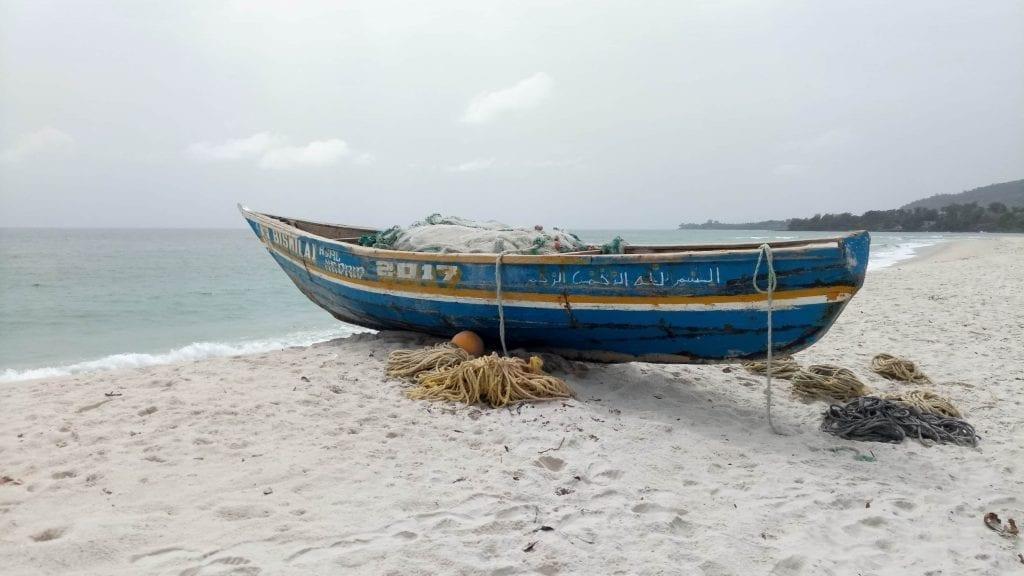 Sierra Leone River No 2 beach wooden boat