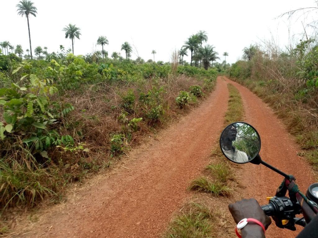 Sierra Leone motorbike ride near Lunsar
