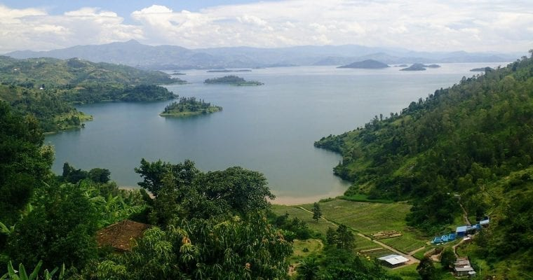 View of Lake Kivu from the Congo Nile Trail