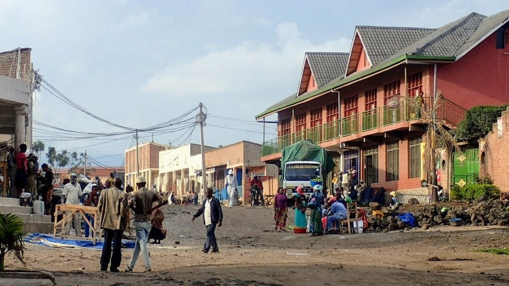 Busy neighborhood in Gisenyi