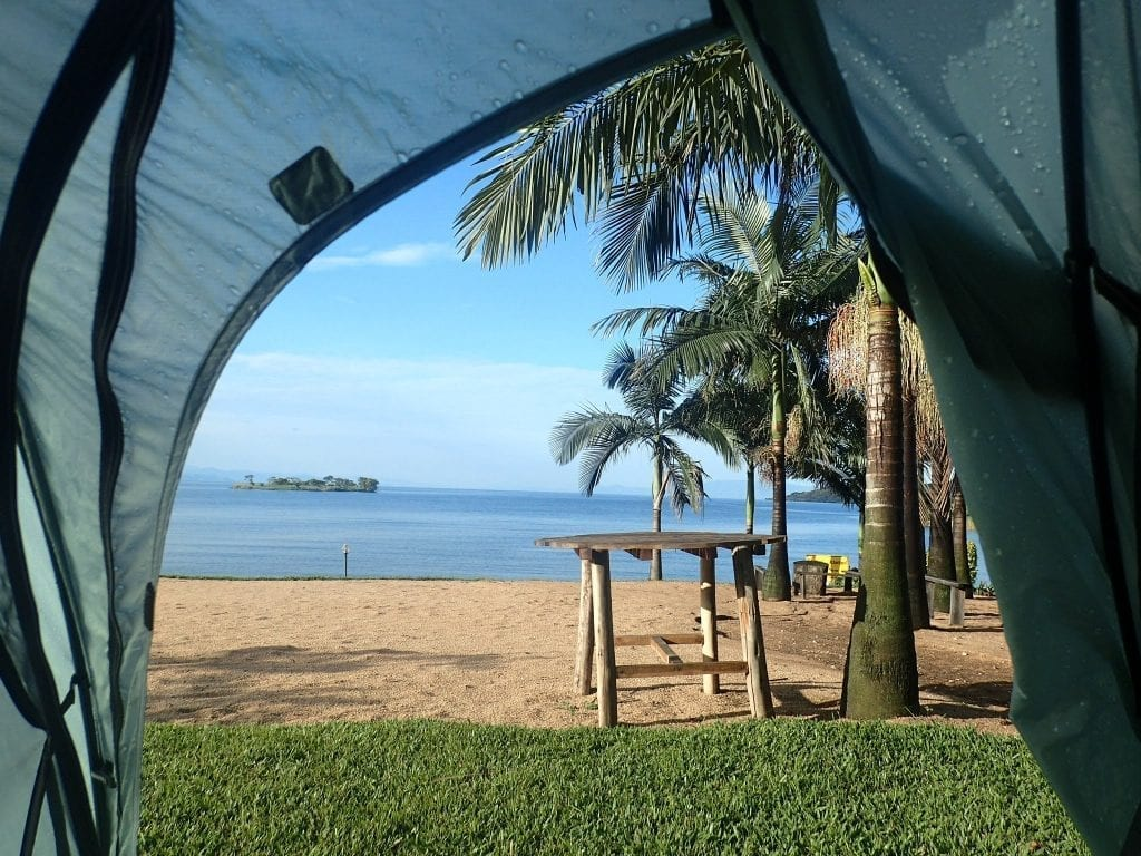 View from my tent in Kinunu