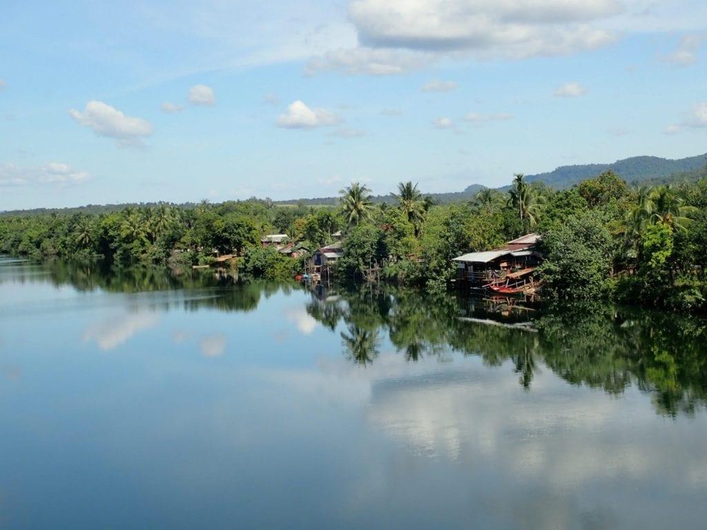 Beautiful river in southern Cambodia