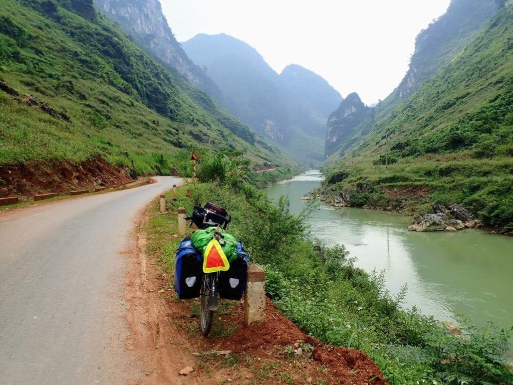 Road beside river in northern Vietnam