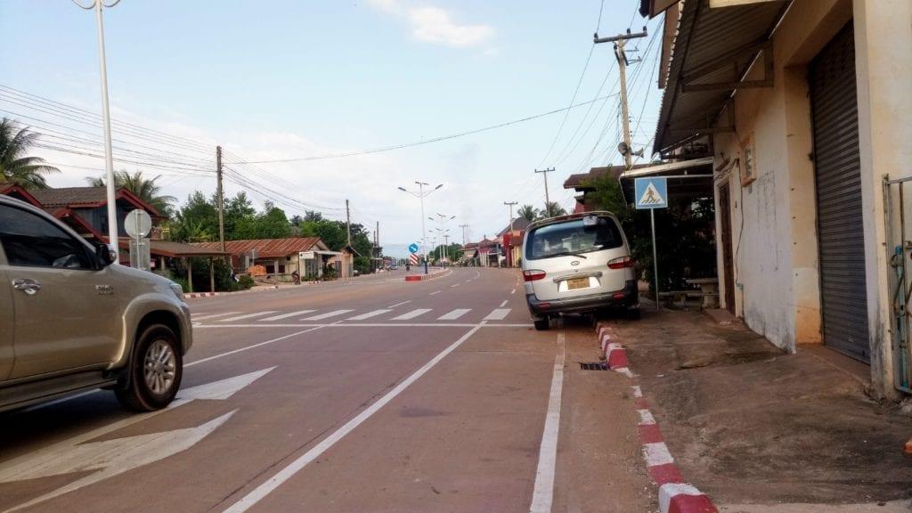 Car parked in bicycle lane