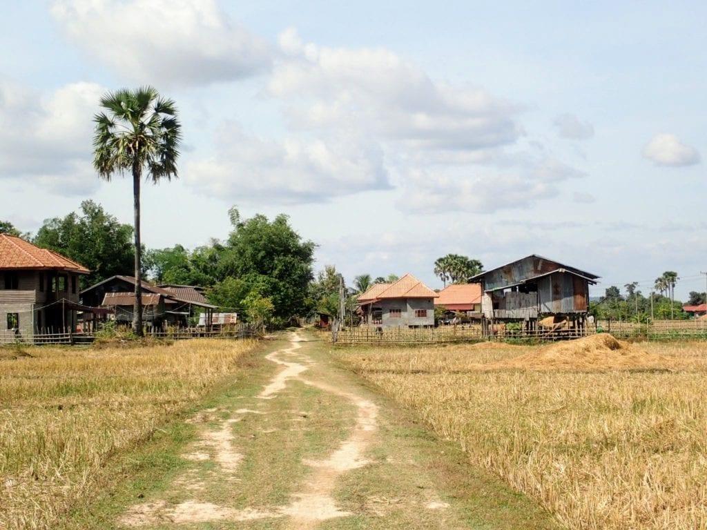 Dirt road in rural southern Laos