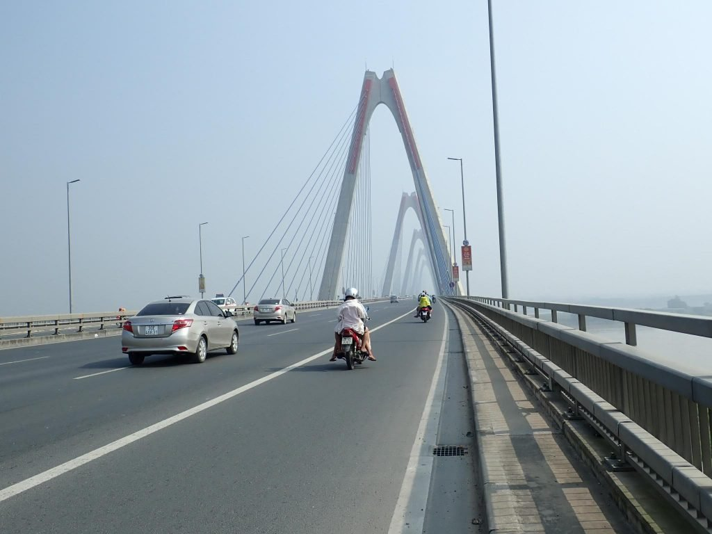 Fancy bridge on Hanoi highway 14