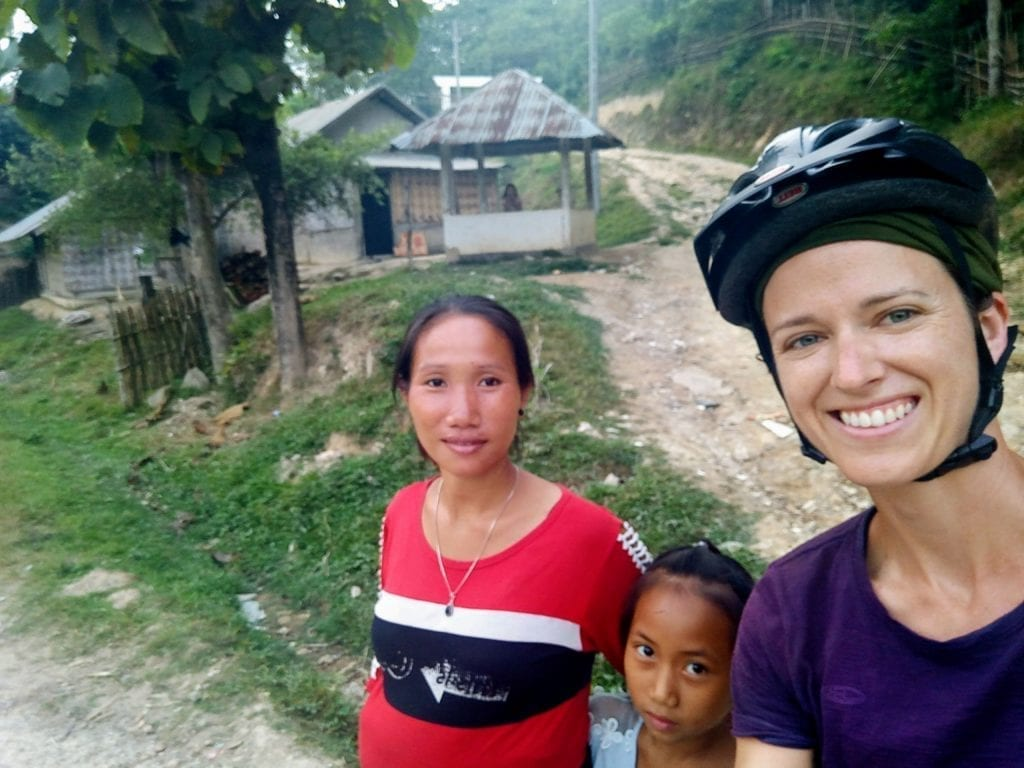 Kind family in rural northern Laos