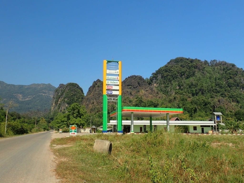 Gas petrol station in Laos