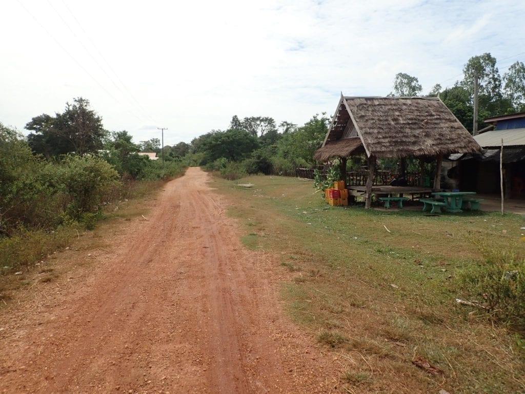 Dirt road in Laos