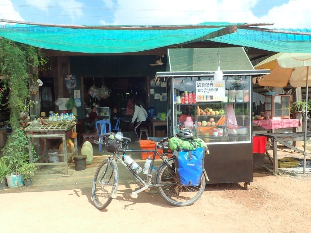 Roadside food stand in Cambodia