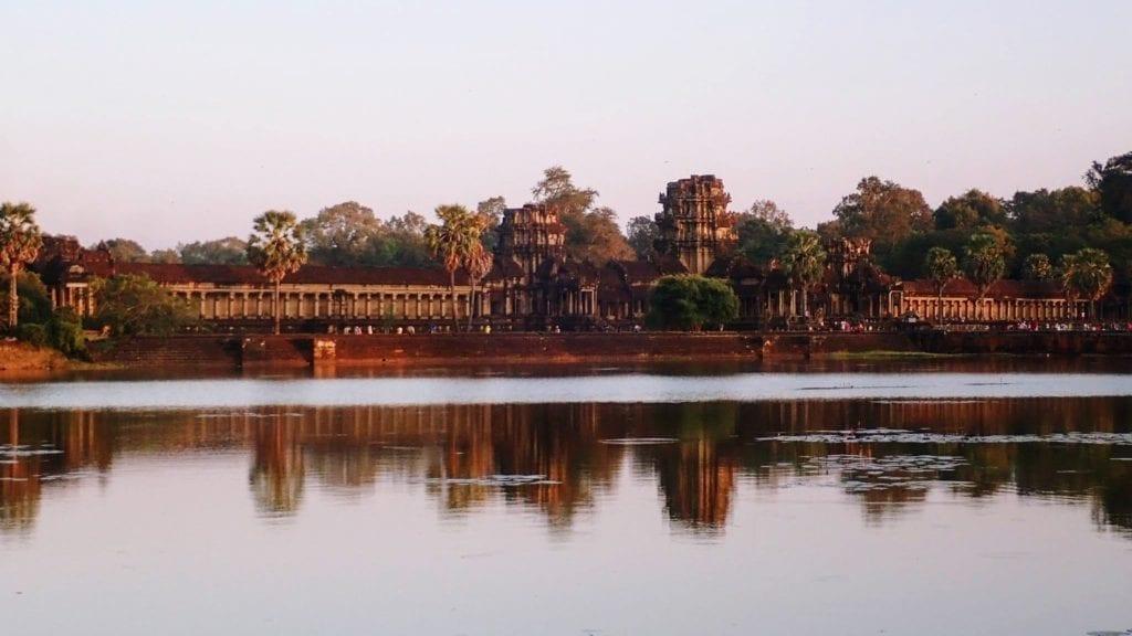 Angkor Wat gate just before sunset