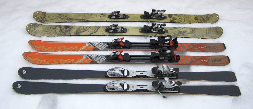 All mountain wide skis