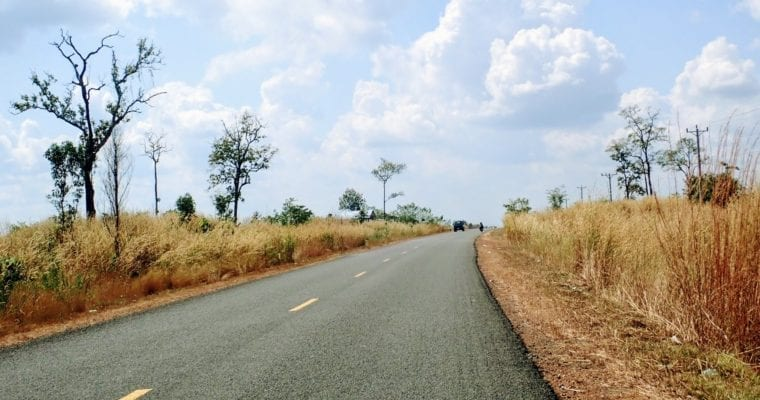 Cycling from Stung Treng to Siem Reap in Cambodia