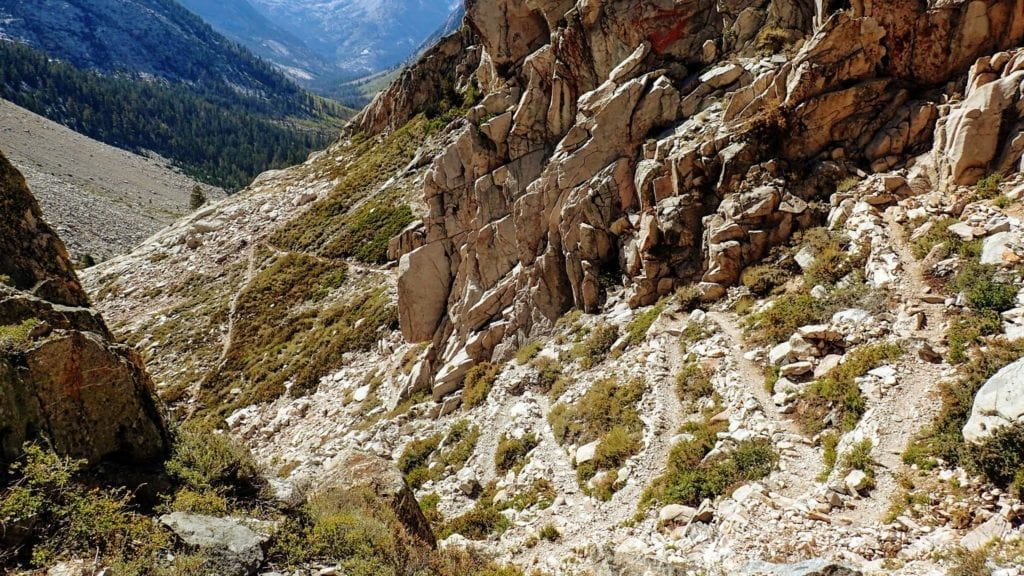 Switchbacks on the John Muir Trail