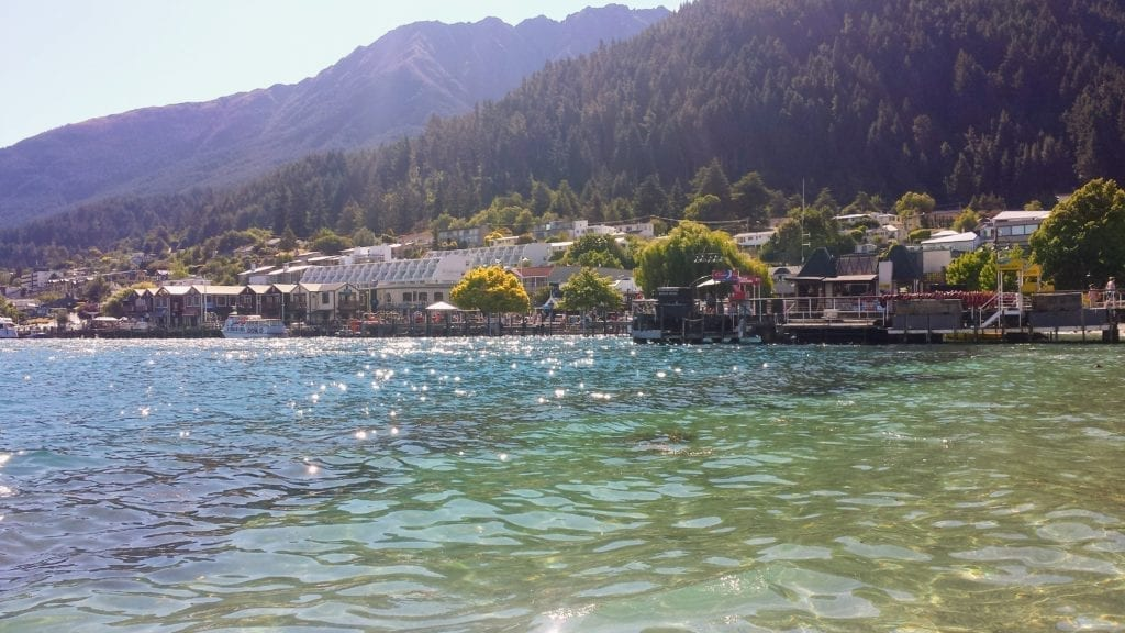 Queenstown shoreline