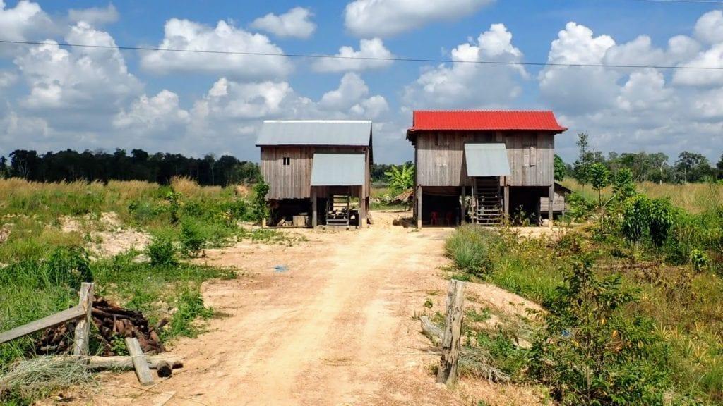 Cambodian wooden stilt houses