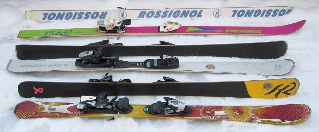 Parabolic women's skis