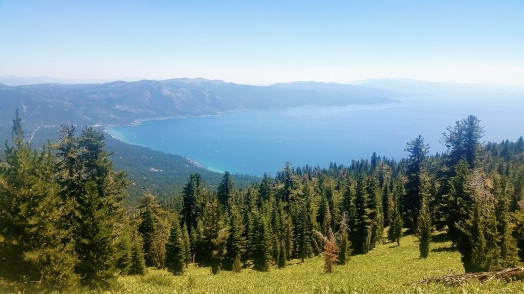 View over Lake Tahoe from the Tahoe Rim Trail