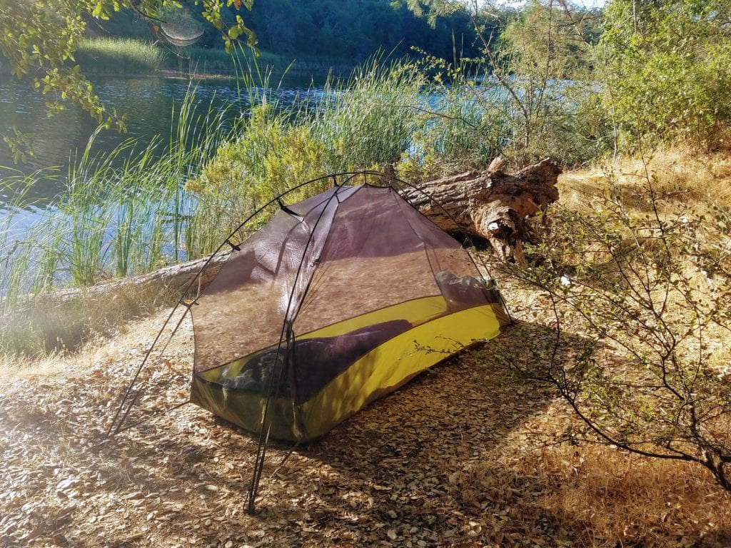 Big Sky Soul 1 person tent in Henry Coe Park
