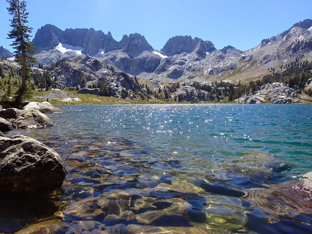 Mountain lake on JMT