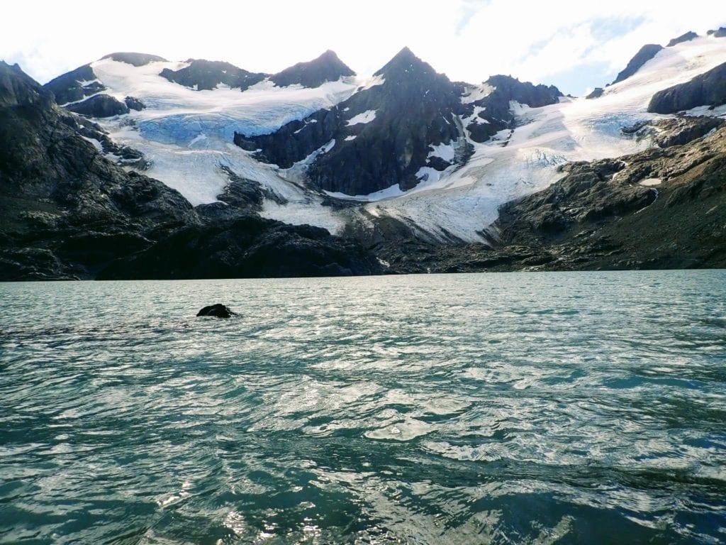 Laguna de los Tempanos, with Vinciguerra Glacier in the background