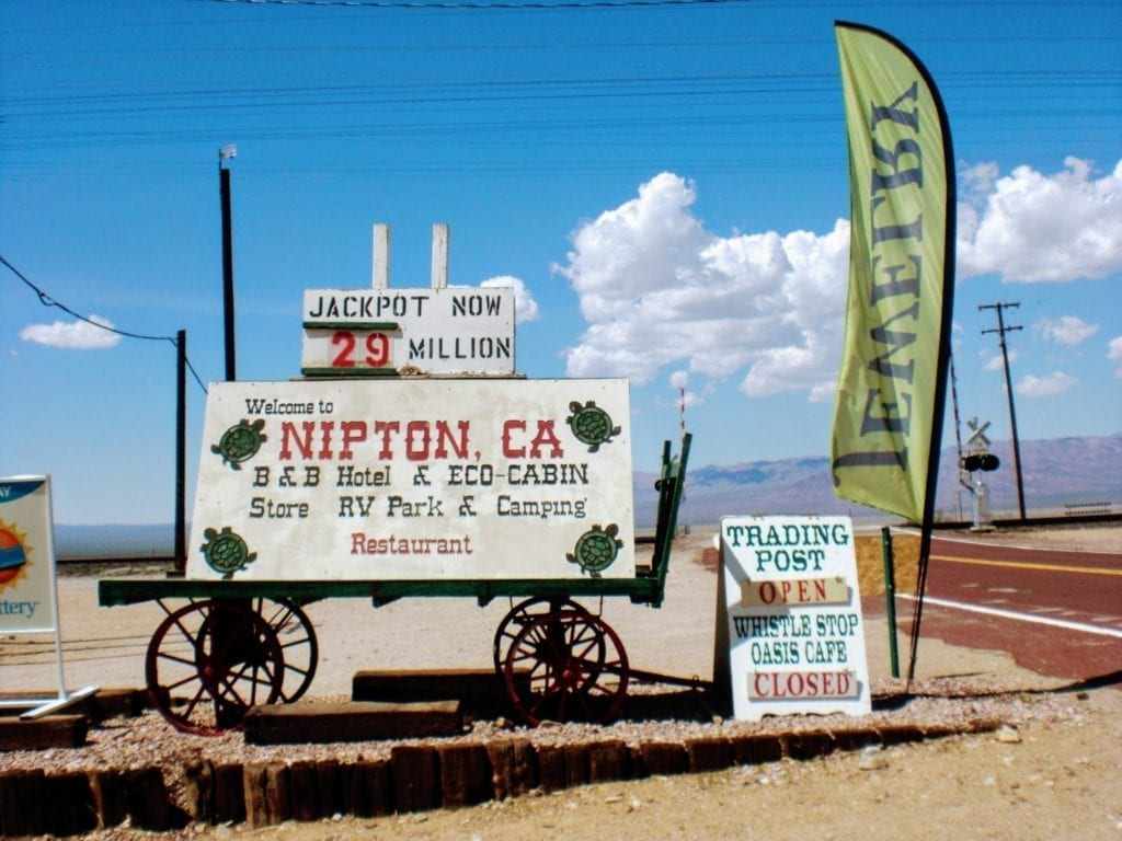 Nipton California near Mojave National Preserve