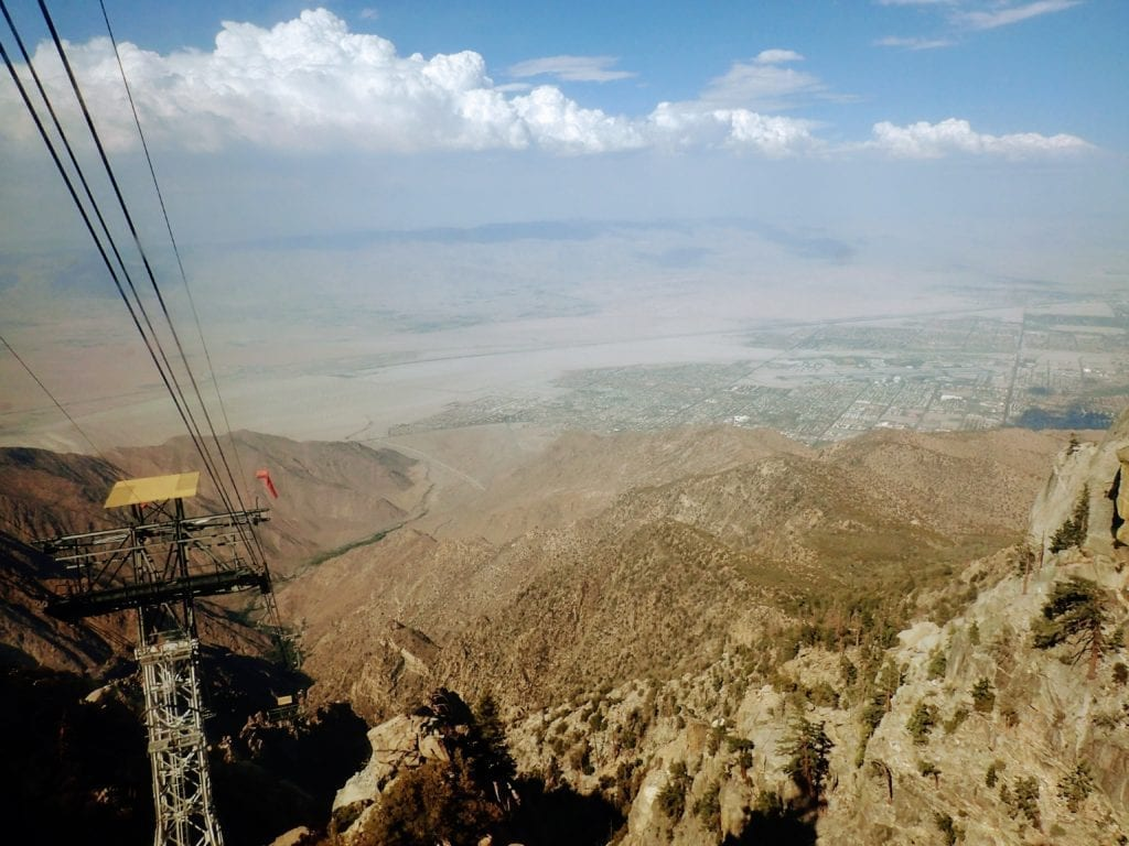 View of Palm Springs from the Palm Springs Aerial Tramway