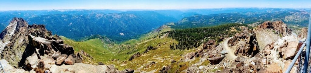 Panorama view of valley from Sierra Buttes Lookout Tower