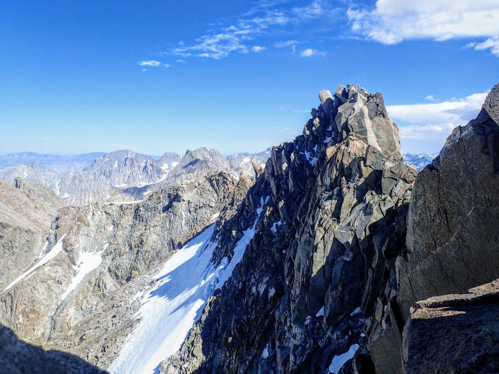 Steep rocky ridgeline in Palisades