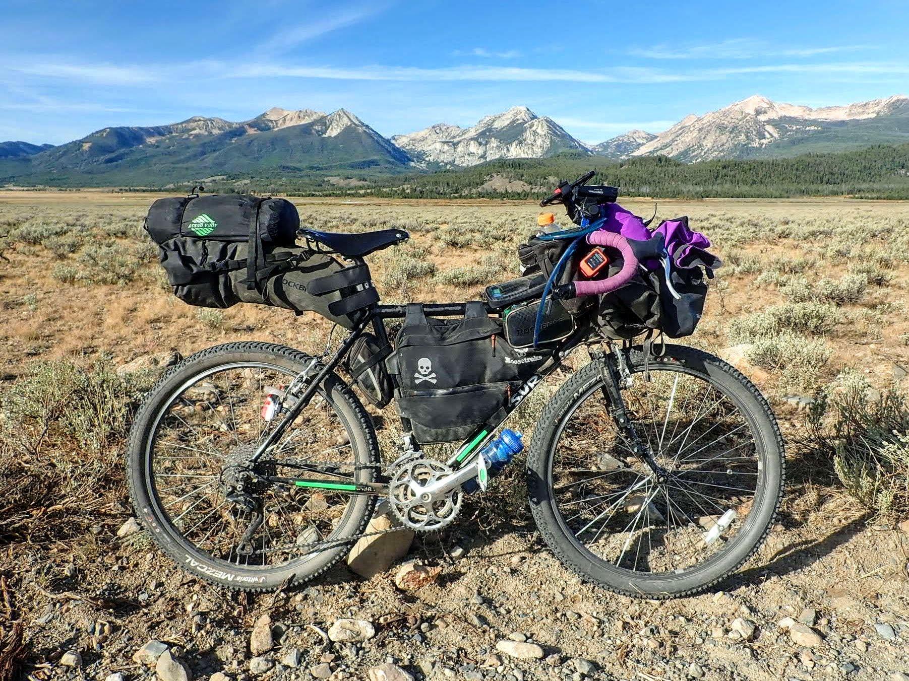 Long Haul Trucker with bikepacking gear
