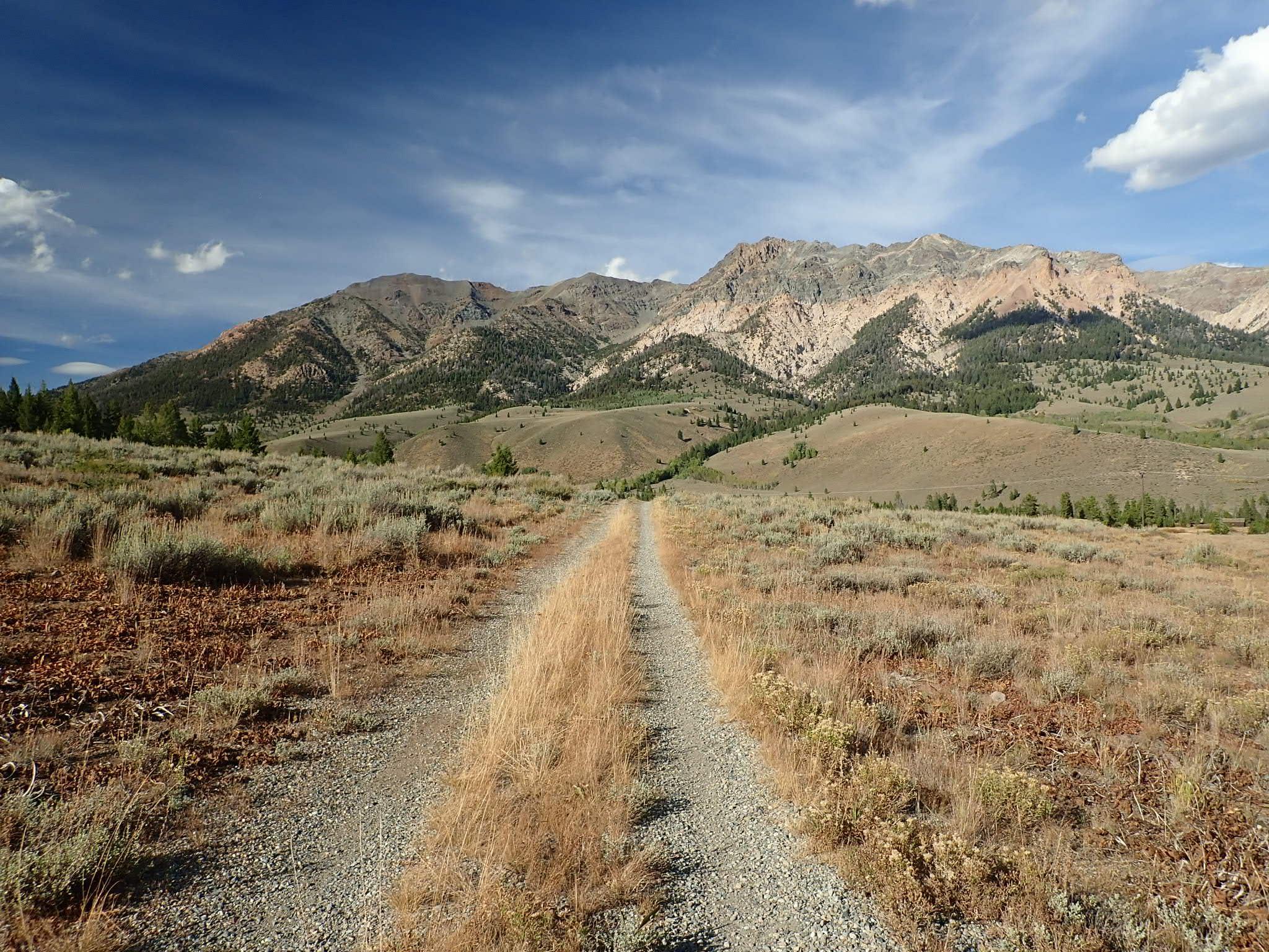 Harriman two-track trail in Idaho