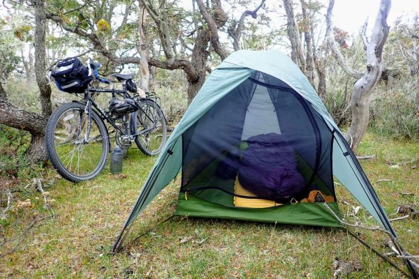 Big Sky Soul tent bicycle touring in Patagonia