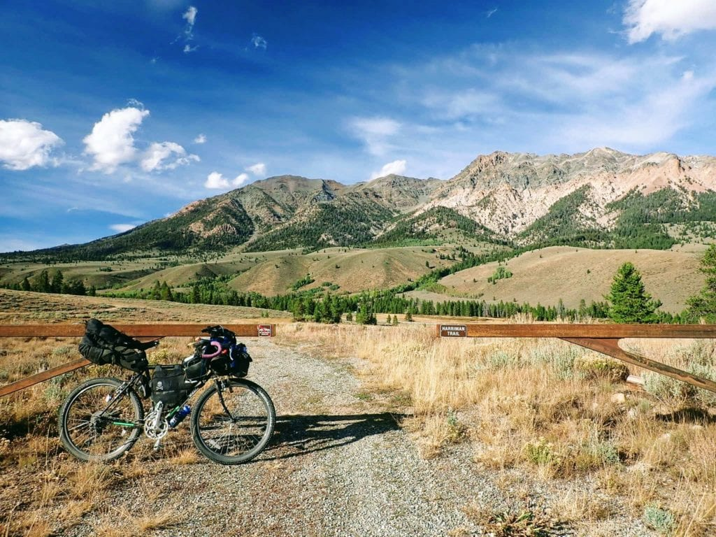 Bicycle on trail in Idaho