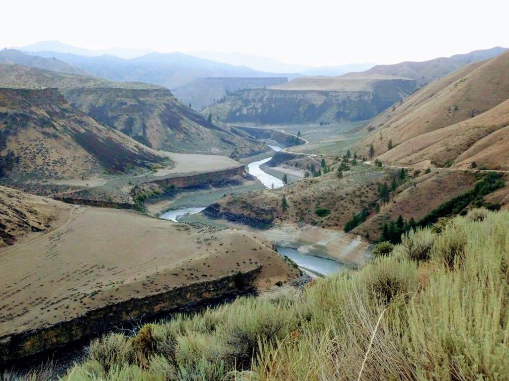 Idaho river canyon