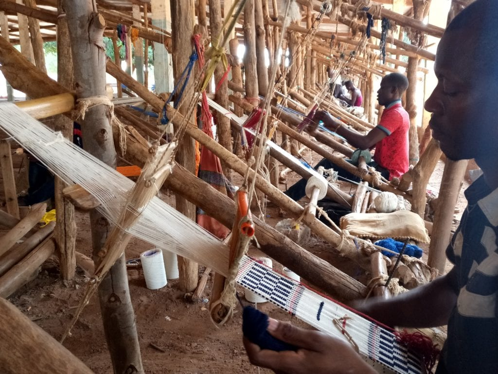 Weavers near West African village of Korhogo Ivory Coast
