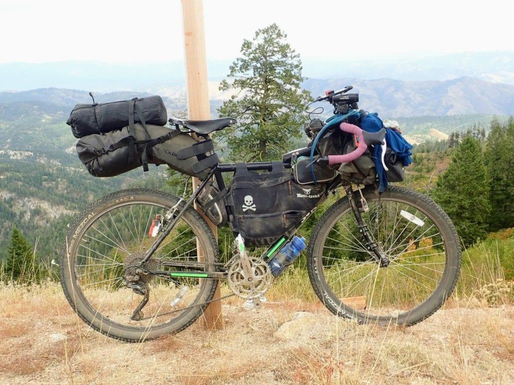 Bikepacking setup in Idaho