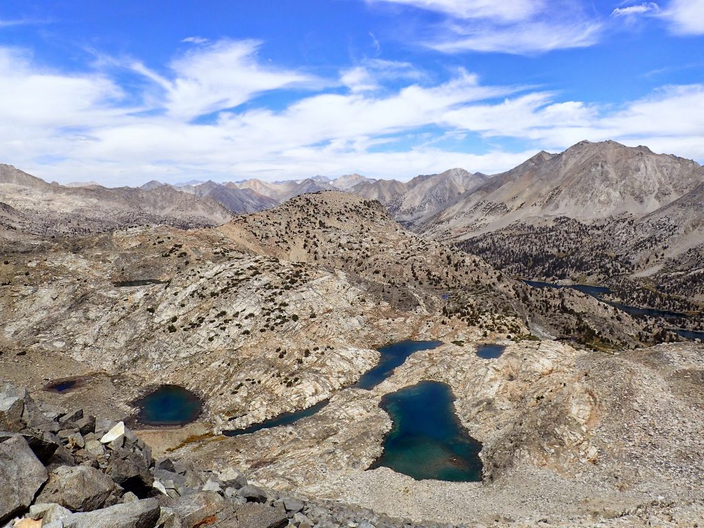 Granite basin and alpine lakes on John Muir Trail