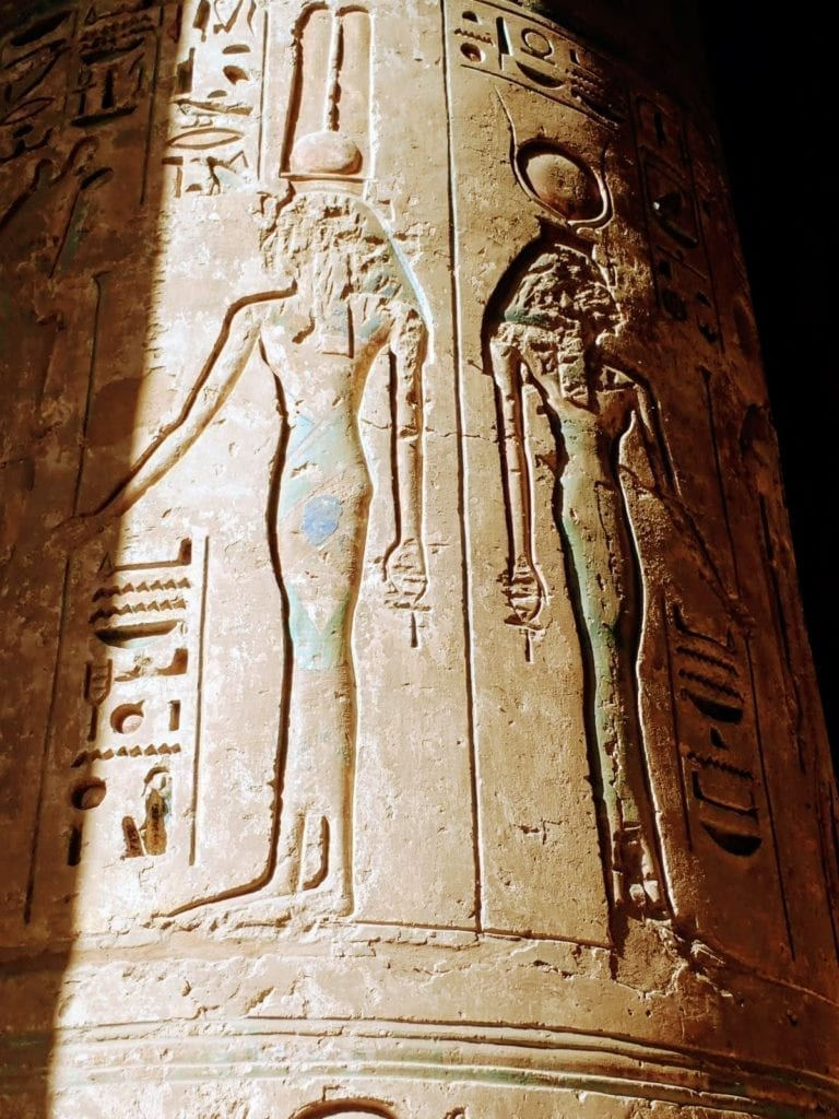 Carvings at Medinet Habu