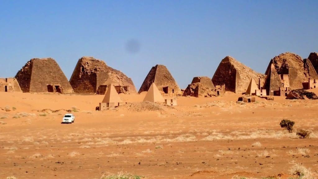 Pyramids and desert in Sudan