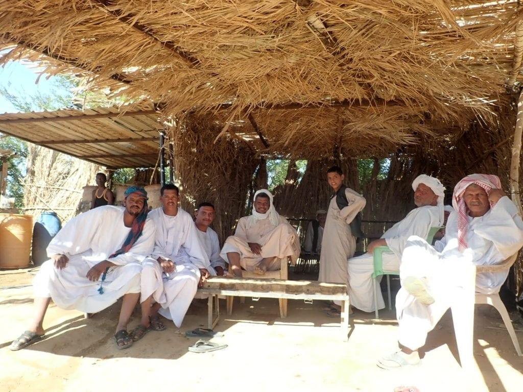 Men at rest stop in Sudan