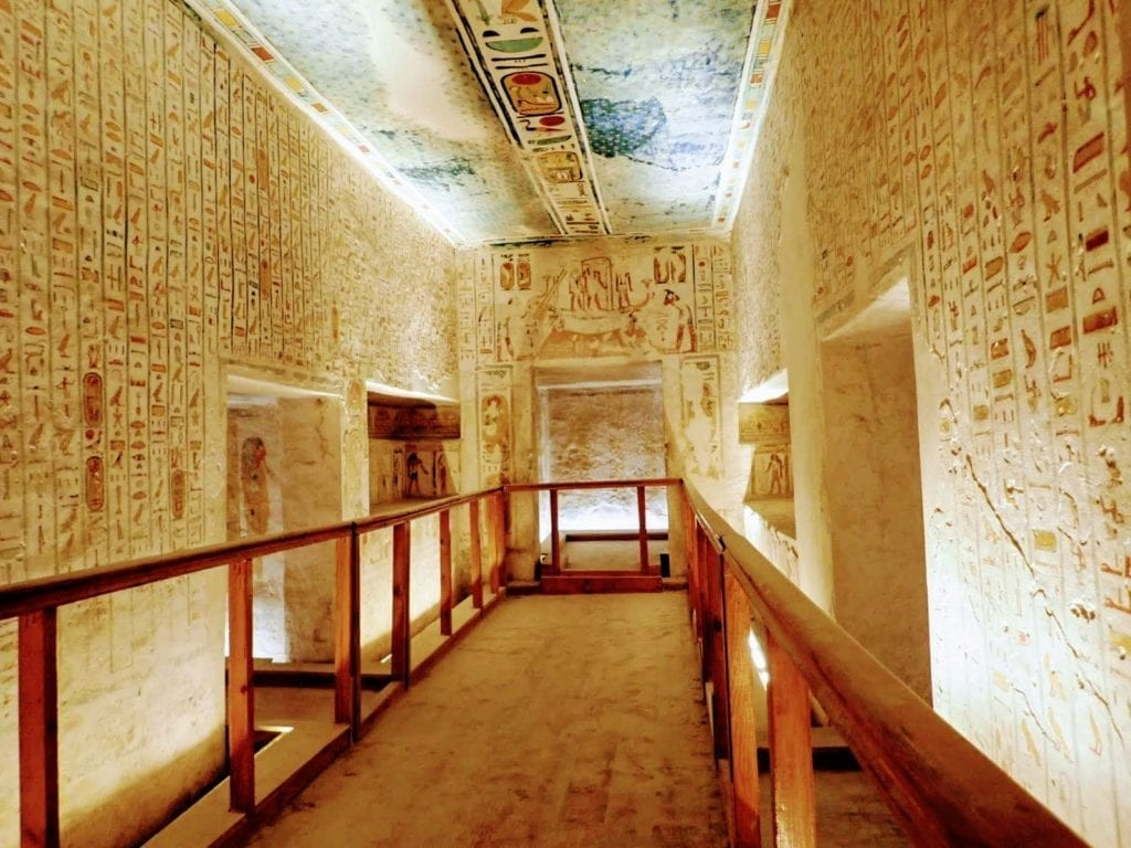 Inside Egyptian tomb at Valley of the Kings