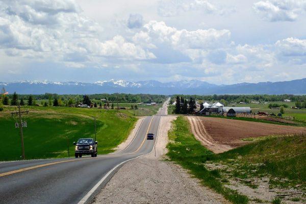 Rural Wyoming road