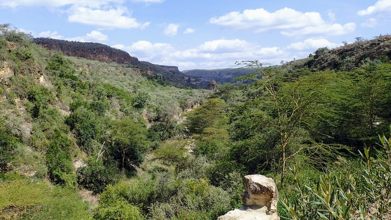View over Hell's Gate National Park from the viewpoint