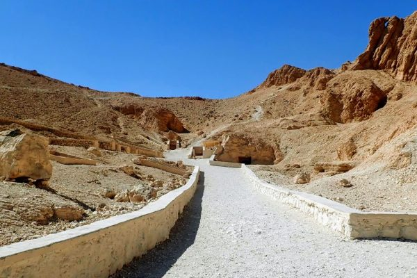 Walkway to tombs at Valley of the Kings