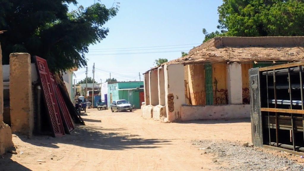 Quiet streets in Abri Sudan