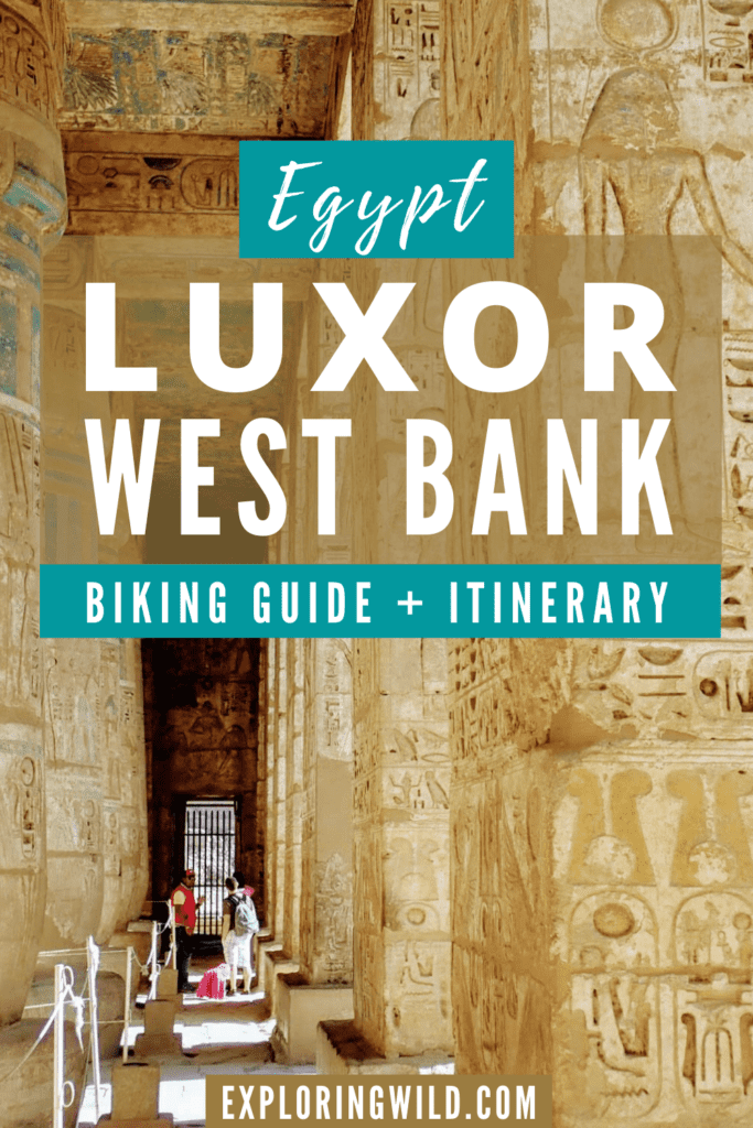 Picture of temple with text: Luxor West Bank biking guide plus itinerary