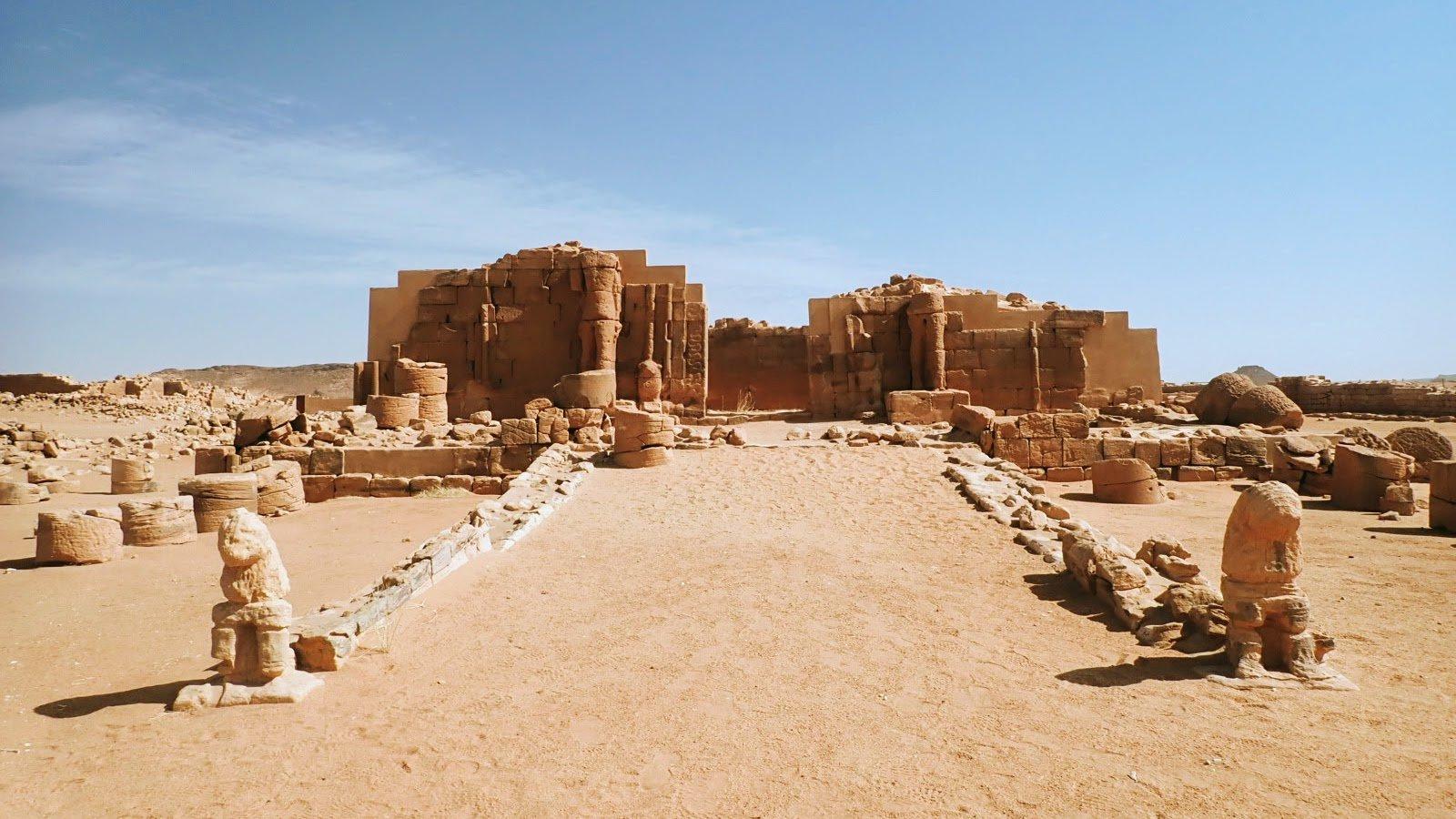 Ruined temple enclosure in Sudan
