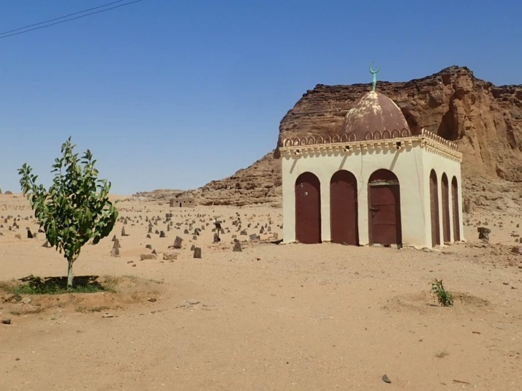 Cemetery at base of Jebel Barkal